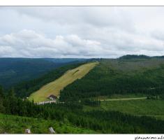 Pogled na skijašku stazu