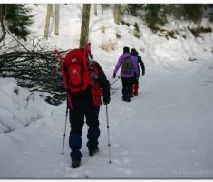 10-ak cm snijega i lagani uspon...